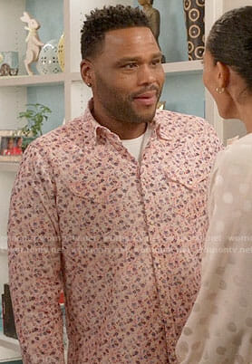 Andre's pink floral shirt on Black-ish