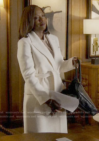 Annalise's white coat on How to Get Away with Murder