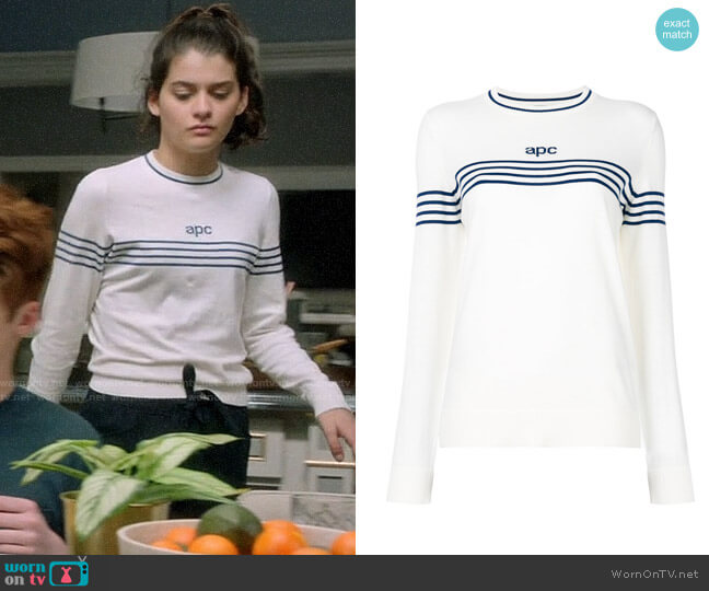 APC Striped Jumper worn by Sofia Black D'Elia on The Mick
