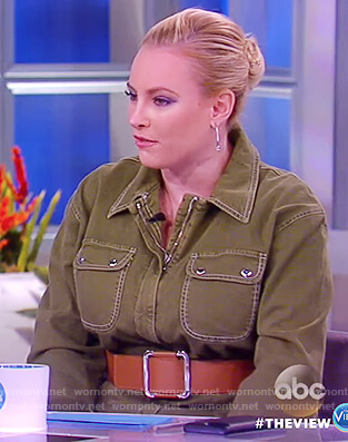 Meghan's green denim jumpsuit on The View