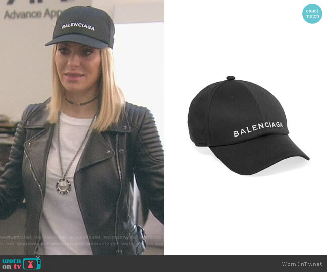 Embroidered cotton baseball cap by Balenciaga worn by Dorit Kemsley on The Real Housewives of Beverly Hills