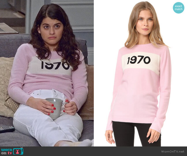 Bella Freud Cashmere 1970 Sweater worn by Sofia Black D'Elia on The Mick