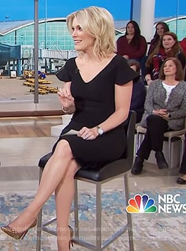 Megyn's black flared sleeve dress on Megyn Kelly Today
