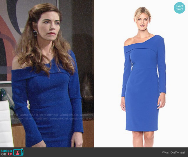 Black Halo Benson Sheath Dress worn by Amelia Heinle on The Young & the Restless