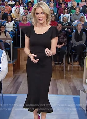 Megyn's black ruffle hem dress on Megyn Kelly Today