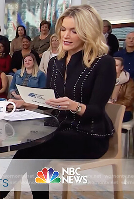 Megyn's black studded jacket on Megyn Kelly Today