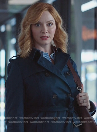 Beth's blue trench coat on Good Girls