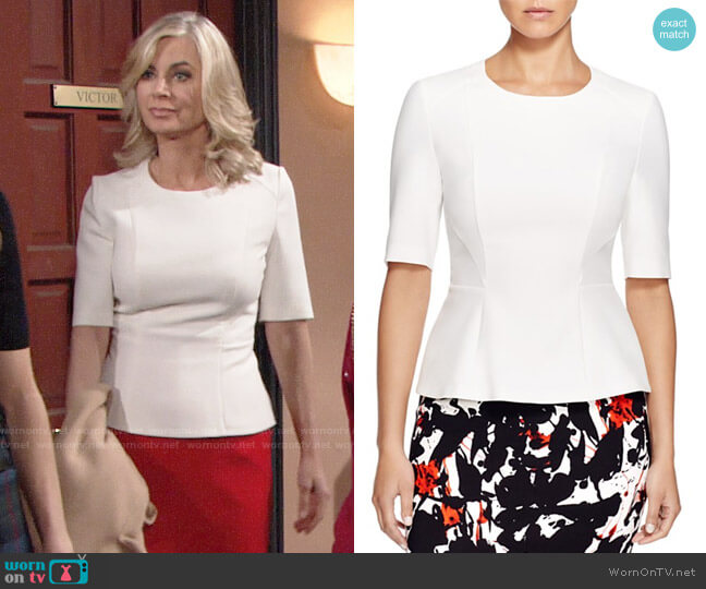 BOSS Ipila Top worn by Eileen Davidson on The Young & the Restless