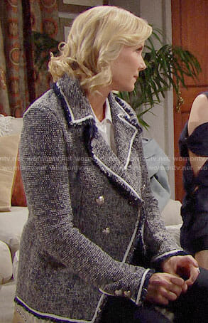 Brooke's grey tweed jacket on The Bold and the Beautiful