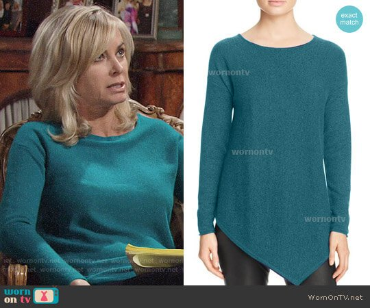 C By Bloomingdales Asymmetric Cashmere Sweater worn by Ashley Abbott (Eileen Davidson) on The Young & the Restless