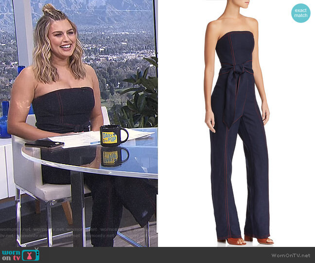 Confessions Strapless Jumpsuit by C/Meo Collective worn by Carissa Loethen Culiner  on E! News