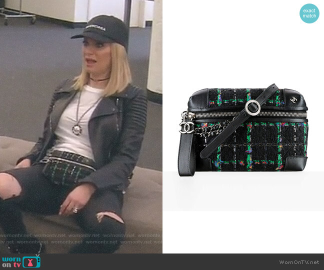 Tweed Waist Bag by Chanel worn by Dorit Kemsley on The Real Housewives of Beverly Hills