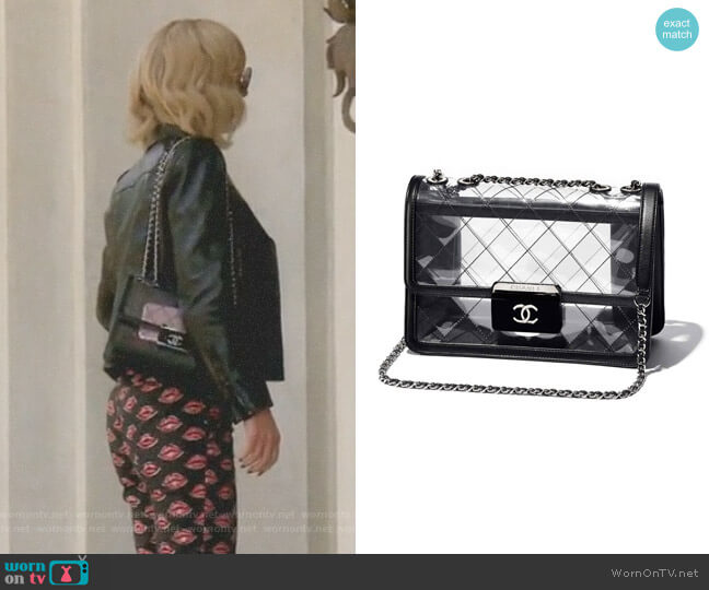 Transparent Flap Bag by Chanel worn by Dorit Kemsley on The Real Housewives of Beverly Hills