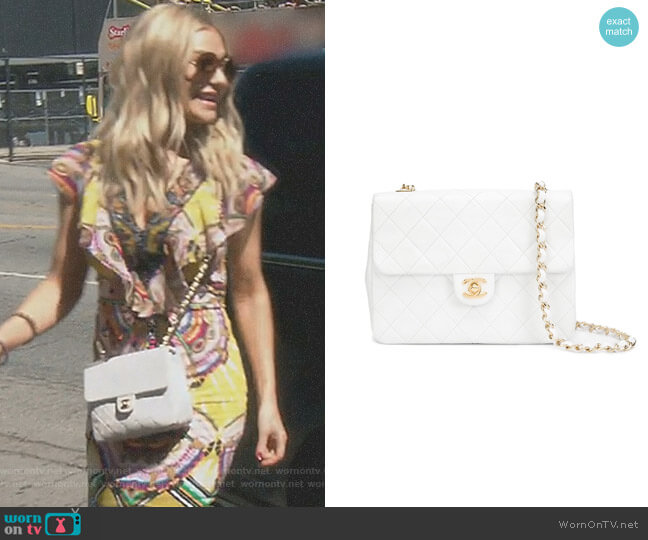 Mini Square Flap Bag by Chanel worn by Dorit Kemsley on The Real Housewives of Beverly Hills