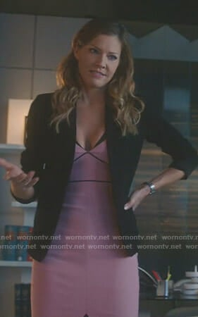 Charlotte's pink dress on Lucifer