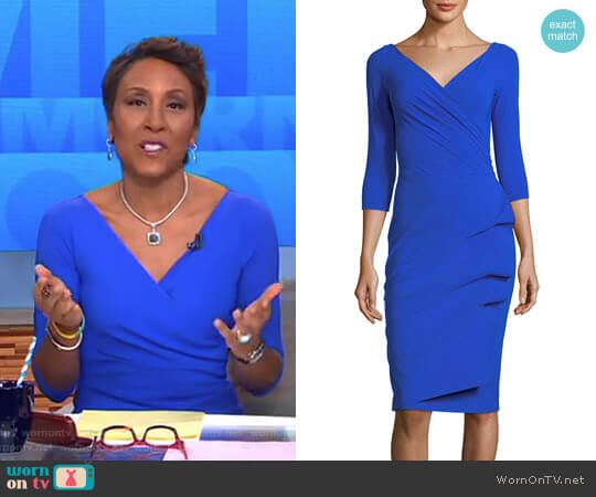 'Florien' Jersey Dress by La Petite Robe di Chiara Boni worn by Robin Roberts on Good Morning America