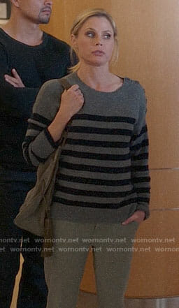 Claire's grey striped sweater on Modern Family