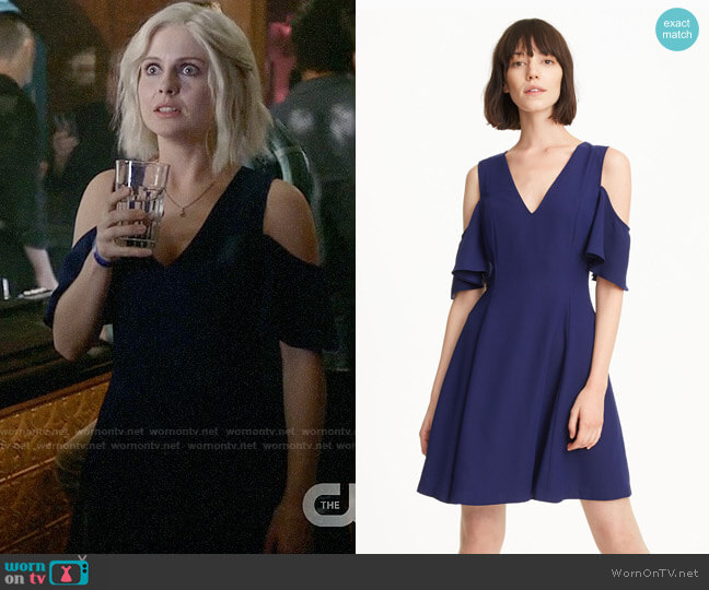 Club Monaco Pernille Cold-Shoulder Dress worn by Rose McIver on iZombie
