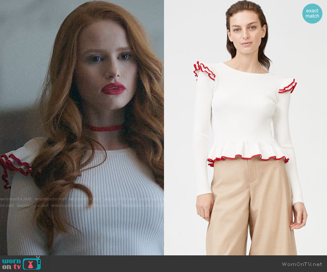 Club Monaco Skarlie Sweater worn by Cheryl Blossom (Madelaine Petsch) on Riverdale