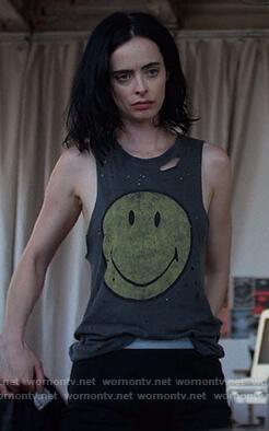 Jessica's black she brings the rain t-shirt on Jessica Jones