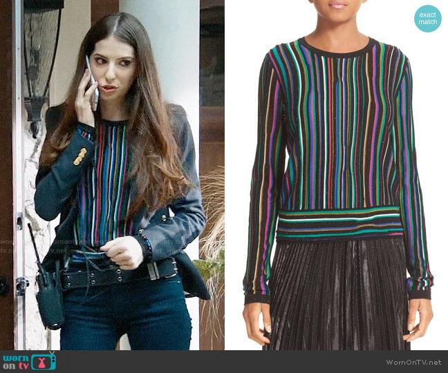 Diane von Furstenberg Arisha Sweater worn by Genevieve Buechner on UnReal