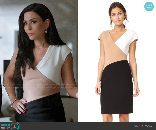 Diane von Furstenberg V Neck Banded Dress worn by Marisol Nichols on Riverdale