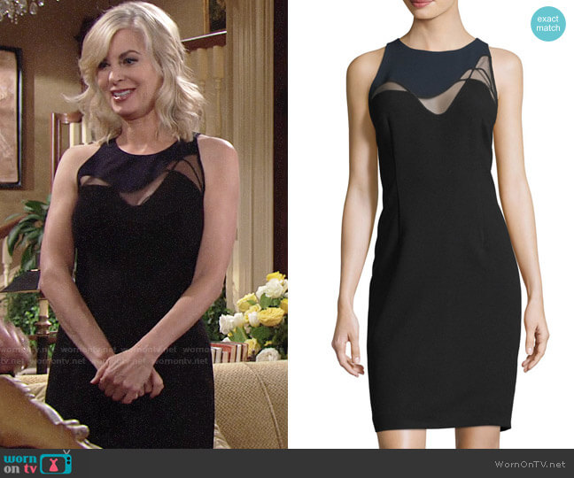 Elie Tahari Colby Dress worn by Ashley Abbott (Eileen Davidson) on The Young & the Restless