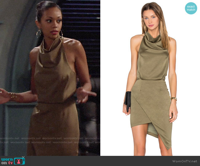 Elliatt Camo Dress worn by Hilary Curtis (Mishael Morgan) on The Young & the Restless
