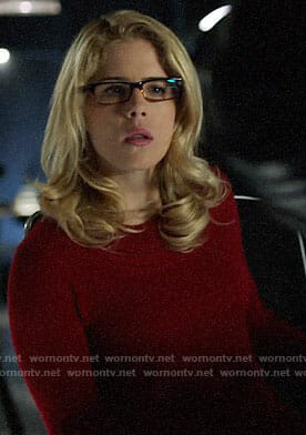Felicity's red sweater on Arrow