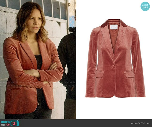 Frame Velvet Blazer worn by Paige Dineen (Katharine McPhee) on Scorpion