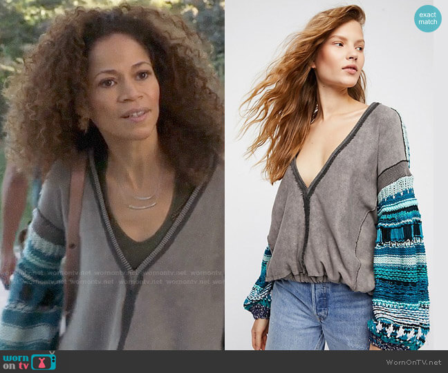 Free People Reminiscent Pullover worn by Lena Adams Foster (Sherri Saum) on The Fosters