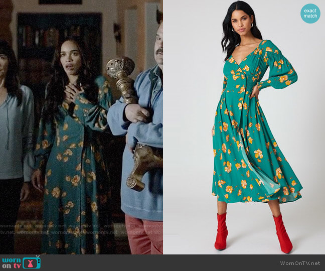 Free People So Sweetly Midi Dress worn by Cleopatra Coleman on Last Man On Earth