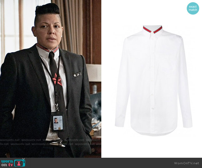 Givenchy Star Trim Shirt worn by Kat Sandoval (Sara Ramirez) on Madam Secretary
