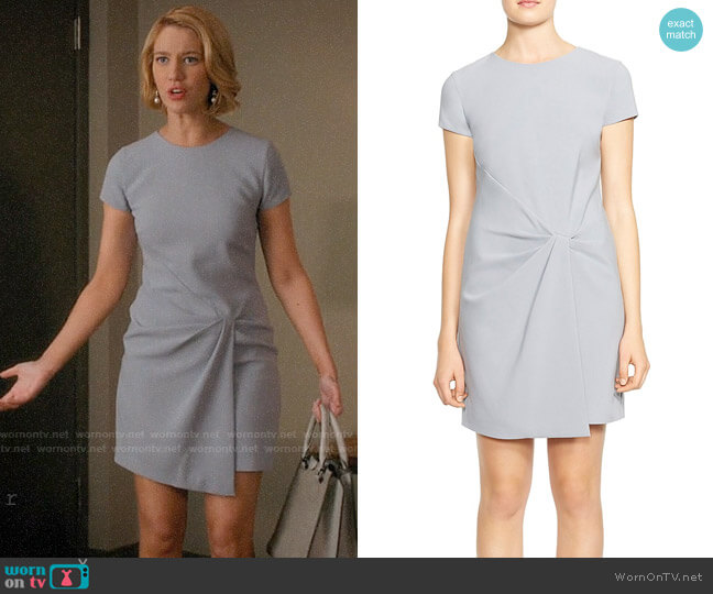 Halston Heritage Drape-Detail Crossover Dress worn by Yael Grobglas on Jane the Virgin