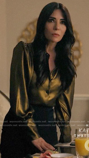 Hermione's gold blouse on Riverdale