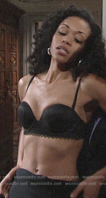 Hilary's black bra on The Young and the Restless