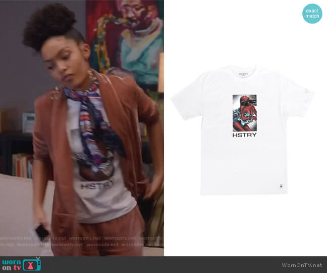 Disco Tee by Hstry Clothing worn by Yara Shahidi on Grown-ish