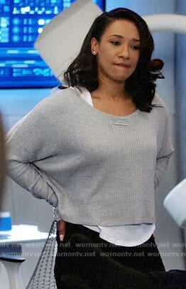 Iris's grey cropped sweater on The Flash