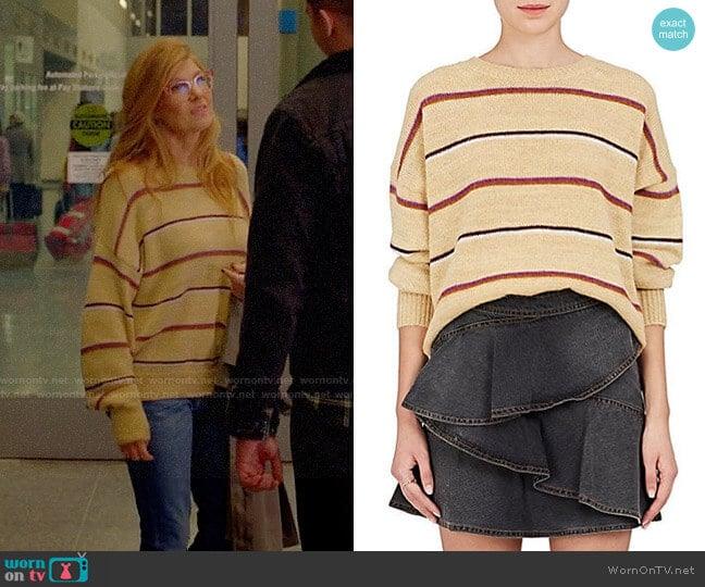 Etoile Isabel Marant Gatlin Sweater worn by Abby Clark (Connie Britton) on 9-1-1