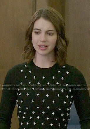 Ivy's pearl embellished sweater on Once Upon a Time