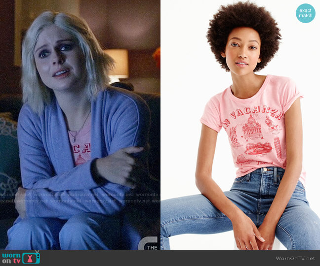 J. Crew 'In vacanza' Graphic T-shirt worn by Rose McIver on iZombie