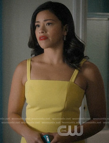Jane's yellow dress on Jane the Virgin
