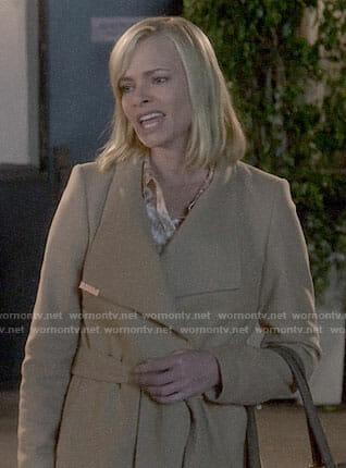 Jill's camel coat on Mom