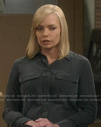 Jill's black button down shirt on Mom