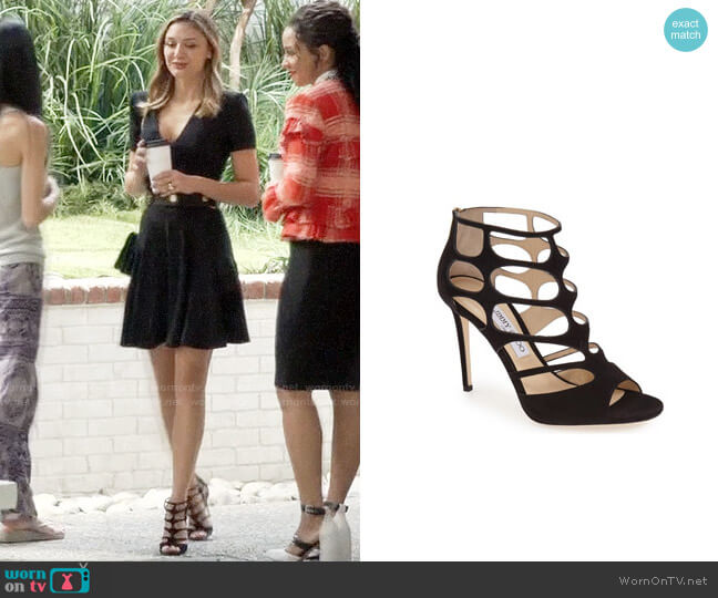 Jimmy Choo Ren Sandals worn by Christine Evangelista on The Arrangement