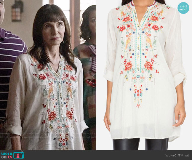 Johnny Was Eyelet Garden Blouse worn by Gail Klostermann (Mary Steenburgen) on Last Man On Earth