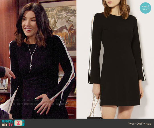 Karen Millen Cut-Out Knitted A-Line Dress worn by Jacqueline MacInnes Wood on The Bold & the Beautiful