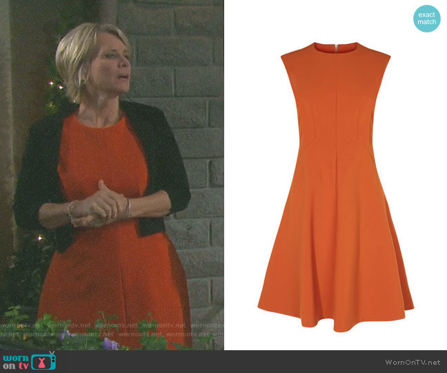 Panelled A-Line Dress by Karen Millen worn by Kayla Brady (Mary Beth Evans) on Days of our Lives