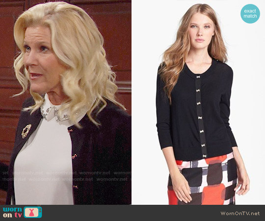 Kate Spade Afton Cardigan worn by Alley Mills on The Bold & the Beautiful