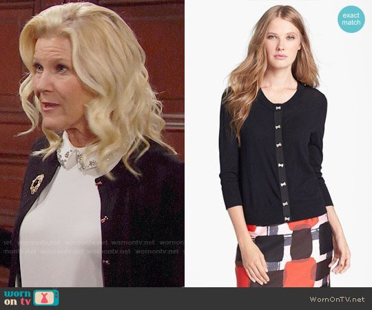 Kate Spade Afton Cardigan worn by Pamela Douglas (Alley Mills) on The Bold & the Beautiful